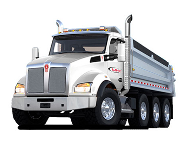 Rent a Kenworth T880 dump truck from MHC Truck Leasing